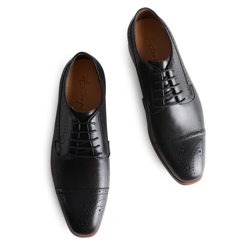 Black Brogue Lace Up Oxford