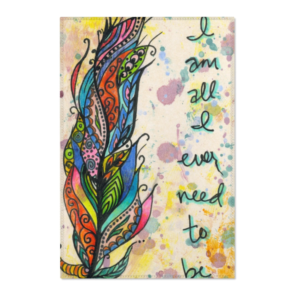 I Am All I Ever Need To Be Area Rug by Caylin White - TheRugChest