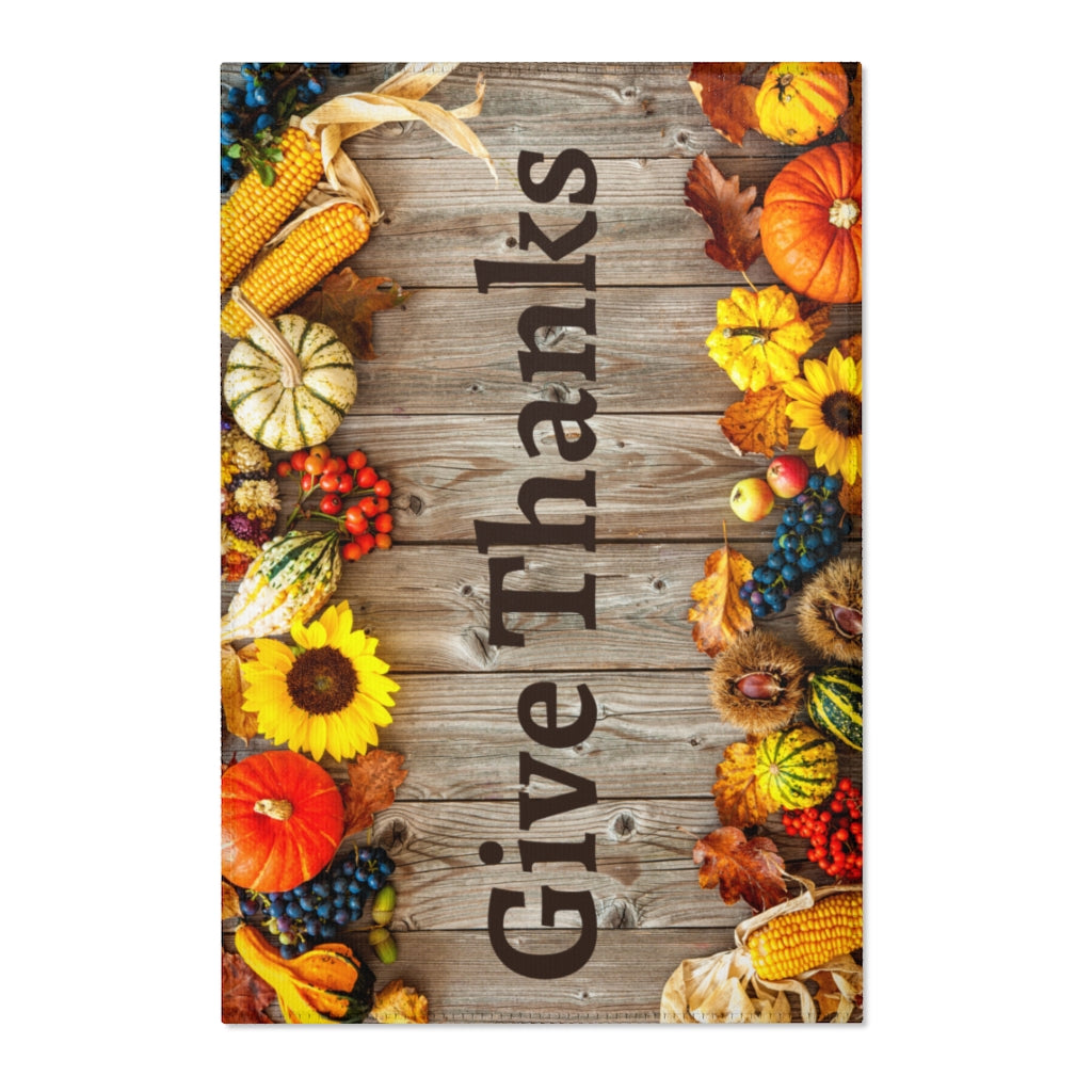 Give Thanks Area Rug - TheRugChest