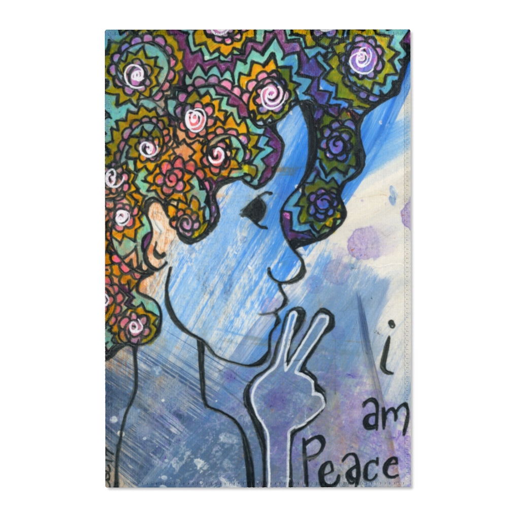 I Am Peace Area Rug by Caylin White - TheRugChest