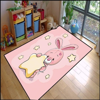 OMG!  Isn't He Adorable?  This Area Rug Will Bring A Smile To Your Little Girl's Face - TheRugChest