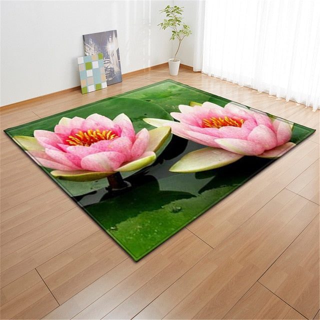 Zen Out Your Room With This White Lotus Area Rug - TheRugChest