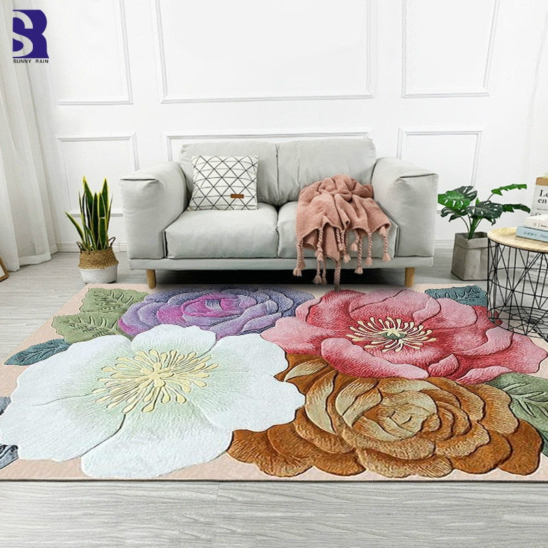 Wake Up And Smell The Flowers Area Rug - TheRugChest