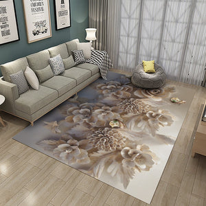 Fall Is Now Here And This Beautiful White Flower Flannel Area Rug Will Look Amazing In Your Favorite Room - TheRugChest