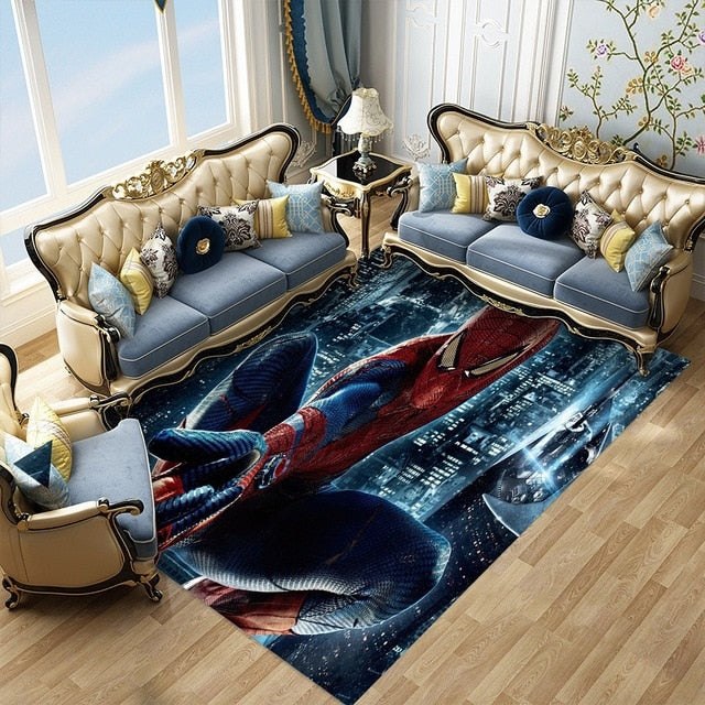 If You Want To Really Be The Talk Of The Town Add A Super Hero Area Rug To Your Living Room - TheRugChest