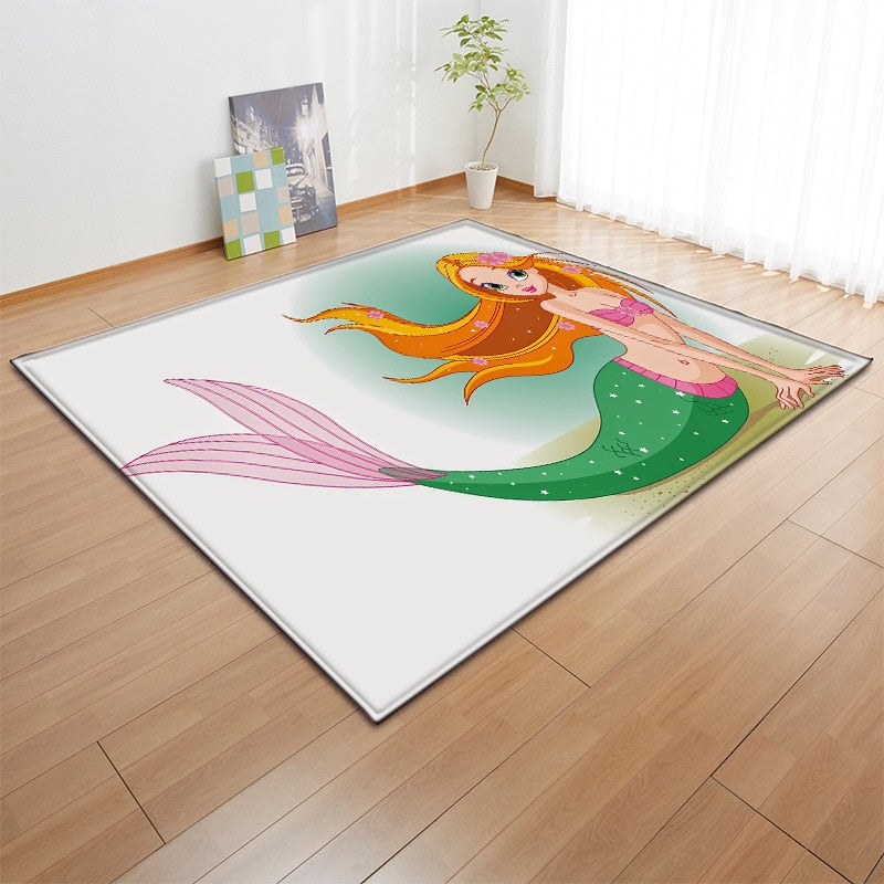 Does Your Little One Love Mermaids? Check Out This Beautiful Mermaid Collection Of Area Rugs - TheRugChest