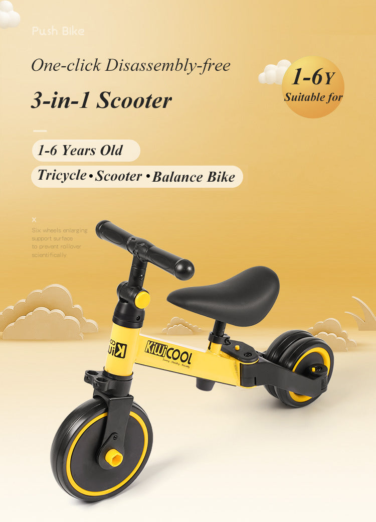 Portable 3-in-1 Tricycle for Kids (1-6 Year)