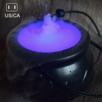 Halloween Color Changing Witch Pot Smoke Machine LED Humidifier