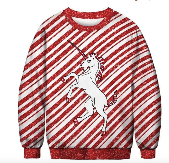 Feisty Unicorn | Ugly Christmas Sweater
