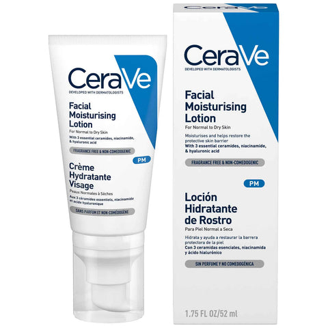 Cerave Pm Lotion For Normal To Dry Skin 52ml