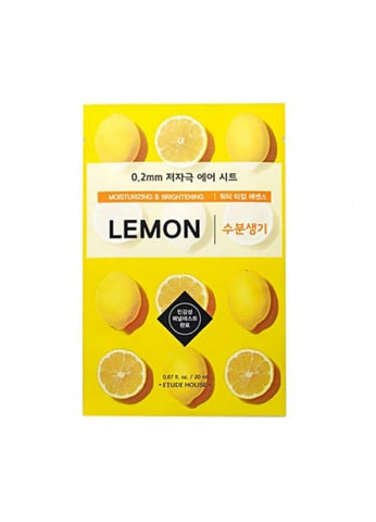 ETUDE HOUSE LEMON SHEET MASK 0.2mm (moisturizing and brightening)