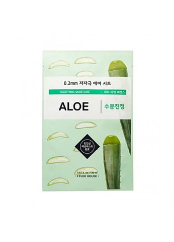 ETUDE HOUSE ALOE SHEET MASK 0.2mm (soothing moisture)