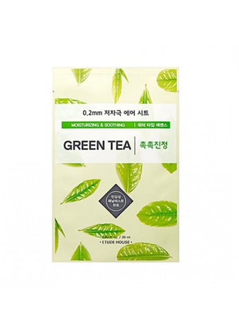 ETUDE HOUSE GREEN TEA SHEET MASK 0.2mm (moisturizing and soothing)