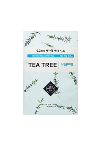 ETUDE HOUSE TEA TREE SHEET MASK 0.2mm (refreshing and soothing)