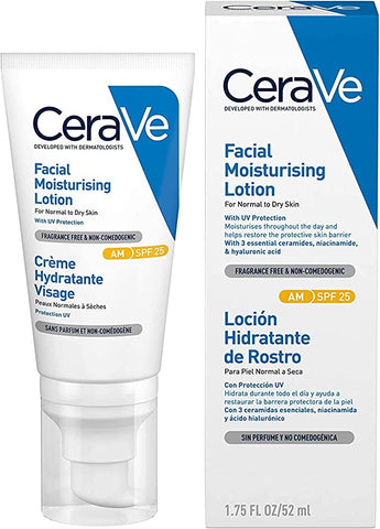 Cerave Am Lotion For Normal To Dry Skin 52ml