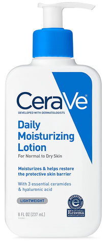 Cerave Daily Moisturizing Lotion 237ml For normal to dry skin (oil free moisturizer with hyaluronic acid)