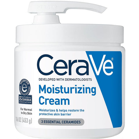 Cerave Moisturizing Cream 453gm for normal to dry skin (with pump)