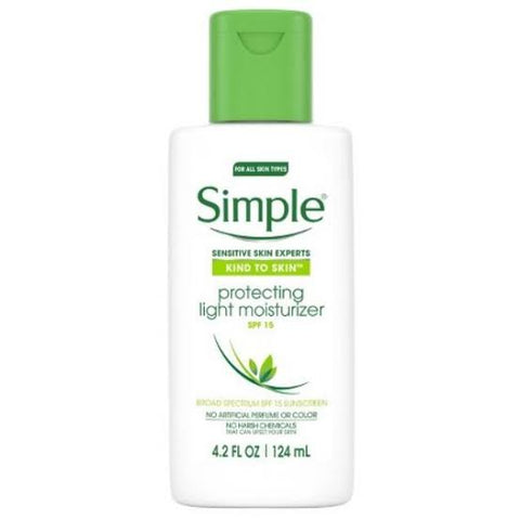 Simple protecting light moisturizer spf 15 uva-uvb
