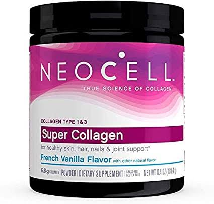 Super Collagen, Collagen Type 1 & 3, French Vanilla, 6.4 oz (181.4 g)