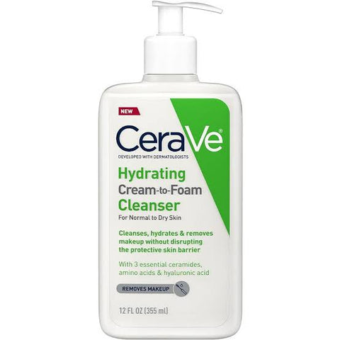 Cerave hydrating cream to foam Cleanser 355ml