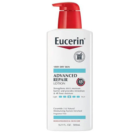 Eucerin Advanced Repair Fragrance Free Lotion 16.9 Fl.OZ