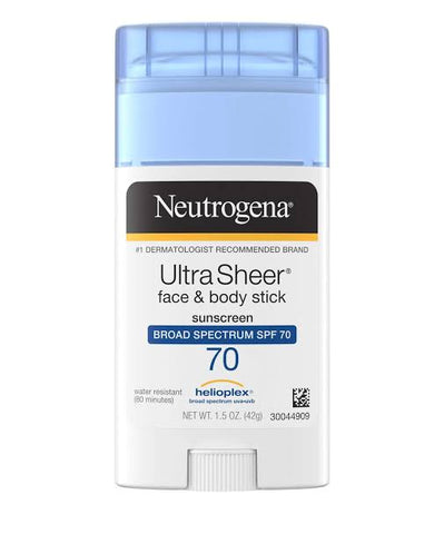 Neutrogena Ultra Sheer  Face + Body Stick Sunscreen Broad Spectrum SPF 70