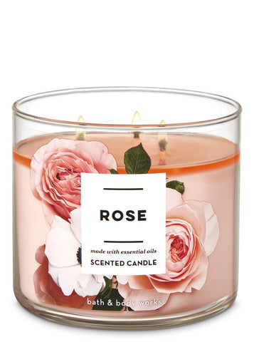 Bath & Body Works ROSE 3-Wick Candle