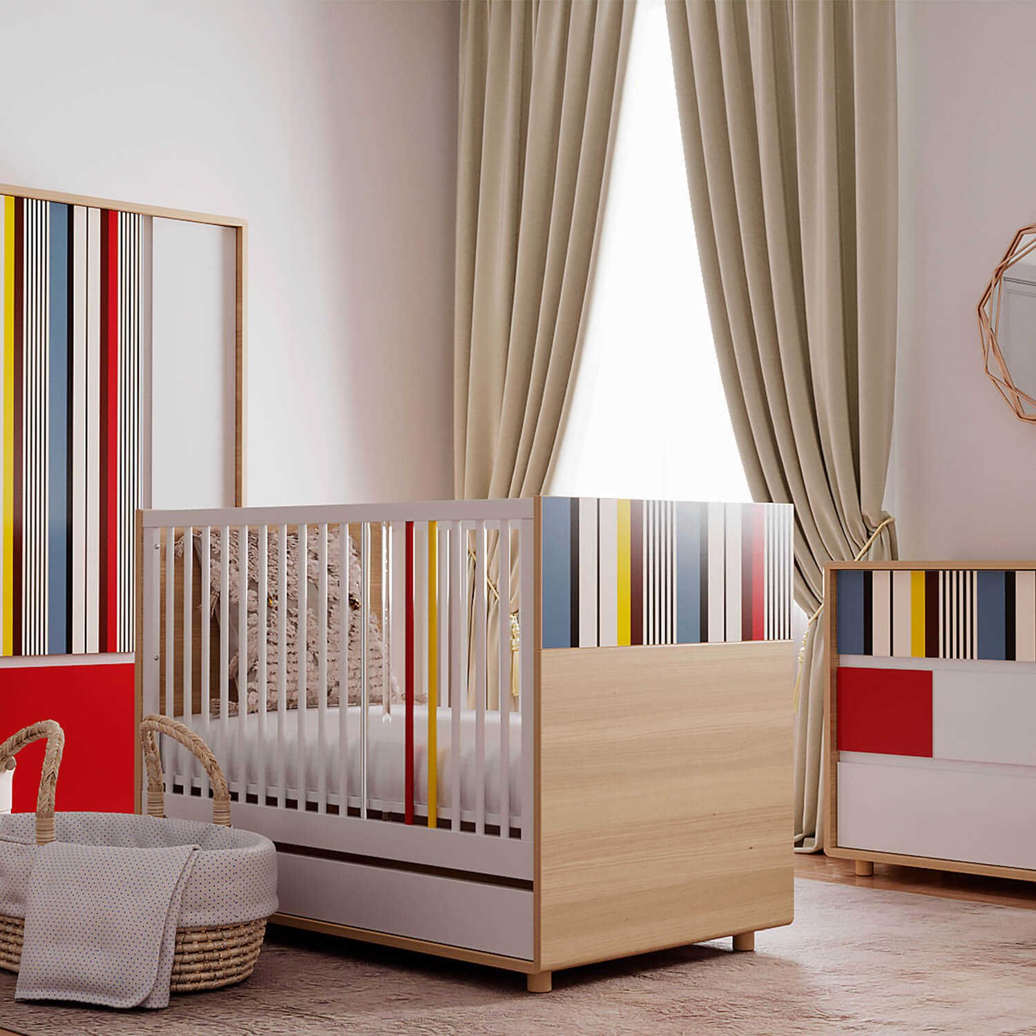 Evolve Collection Bundle: Crib, Dresser, Wardrobe