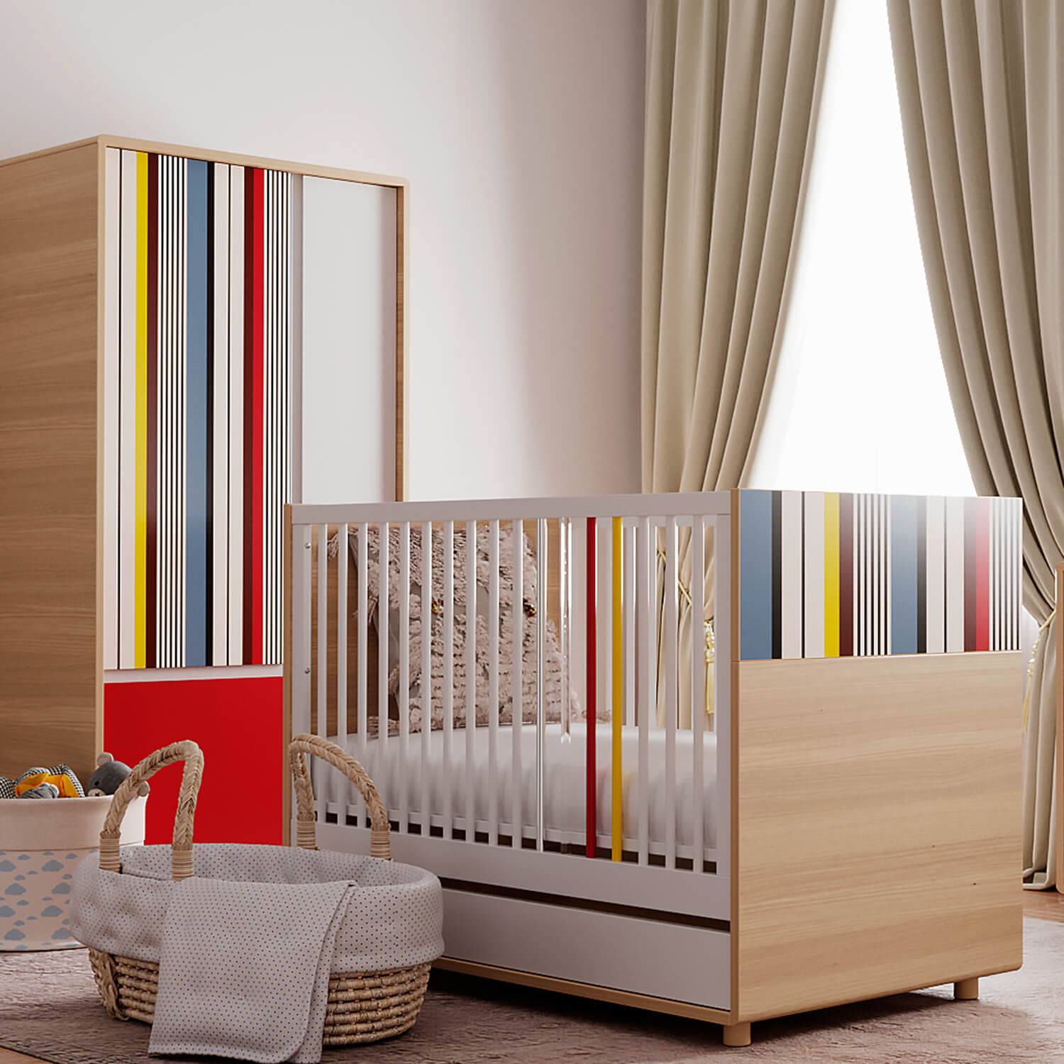 Evolve Collection Bundle: Crib & Wardrobe