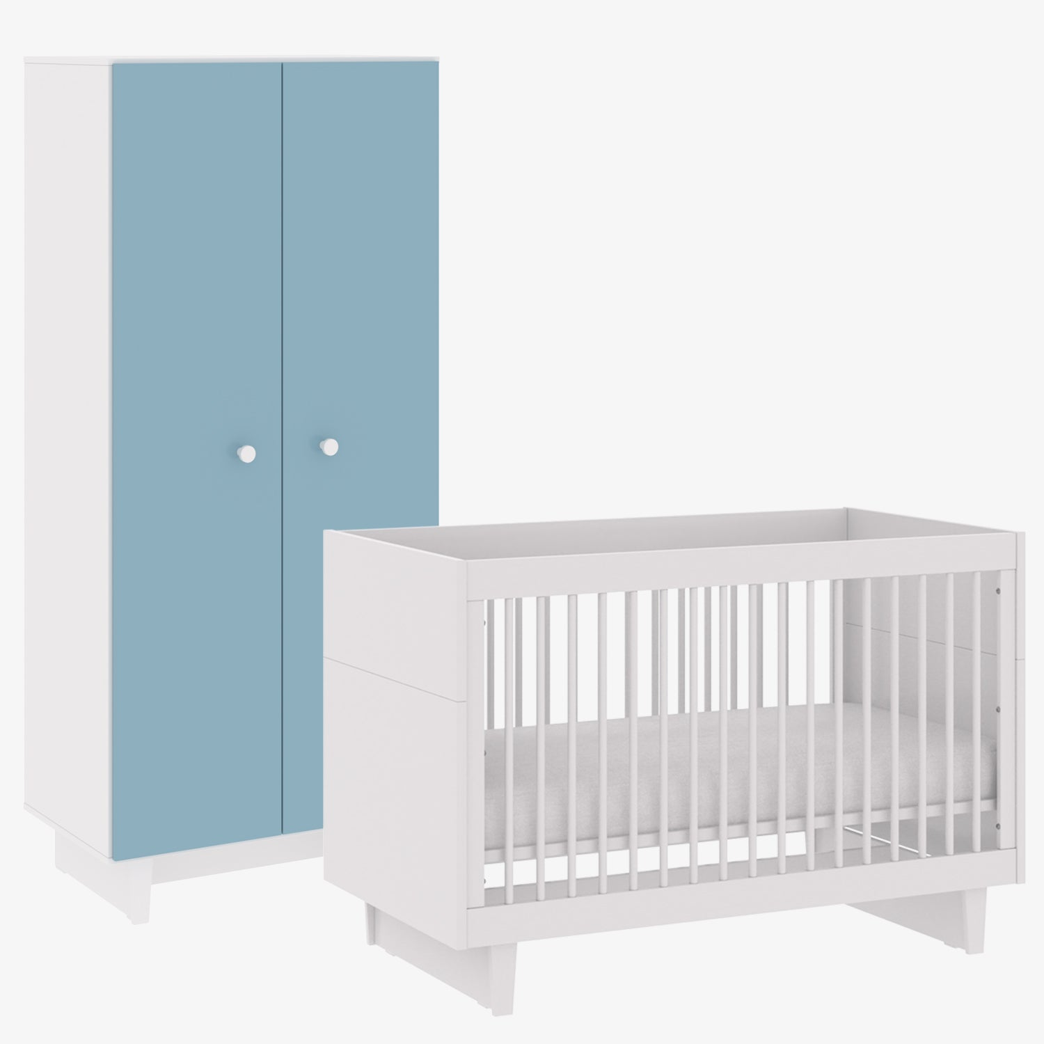 Fino Collection Bundle: Crib & Wardrobe