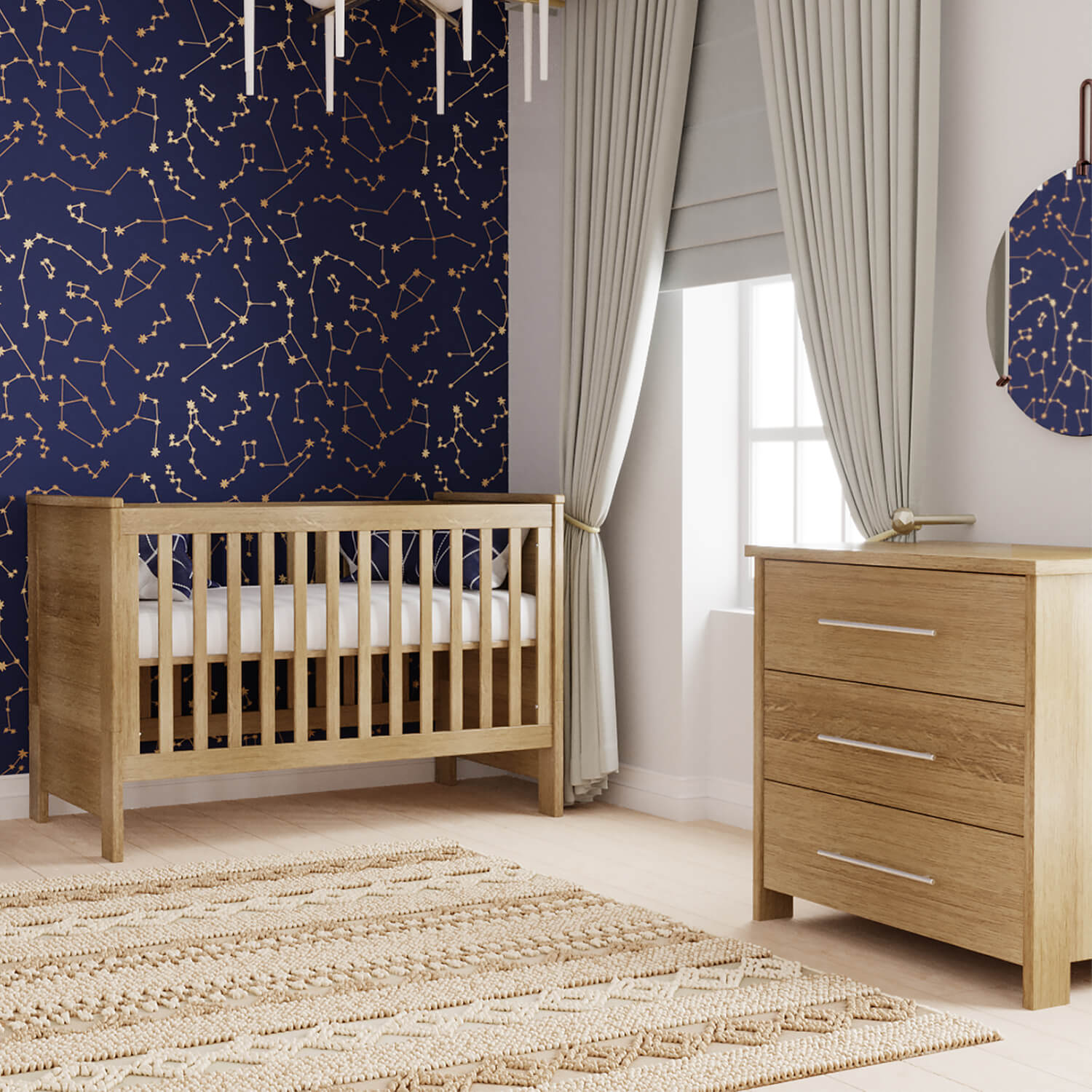 Oakland Collection Bundle: Crib & Dresser