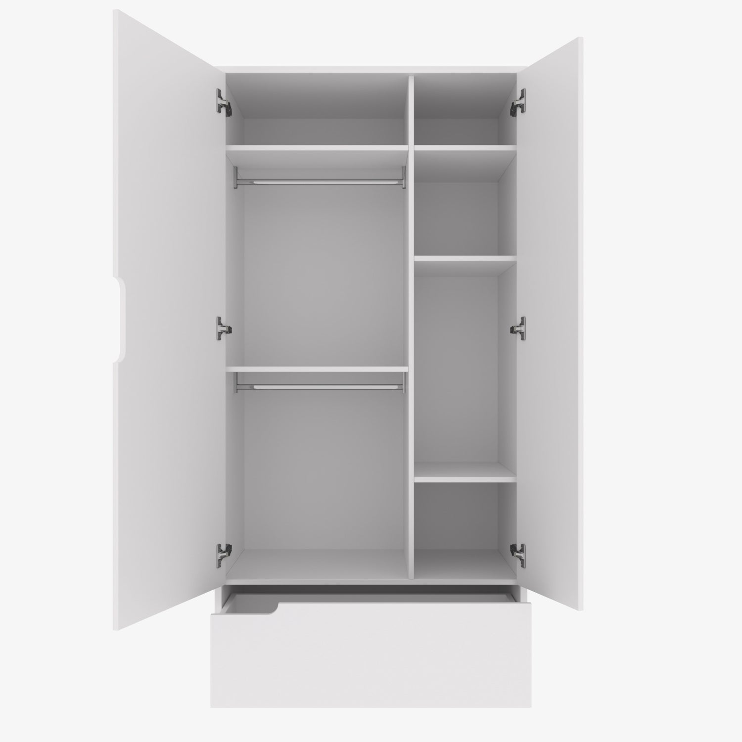 Milk 2-Door Wardrobe