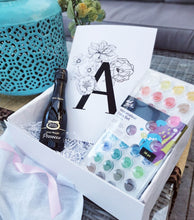 Load image into Gallery viewer, Watercolour Alphabet Initial Print - Craft Gift Box + Video Tutorial