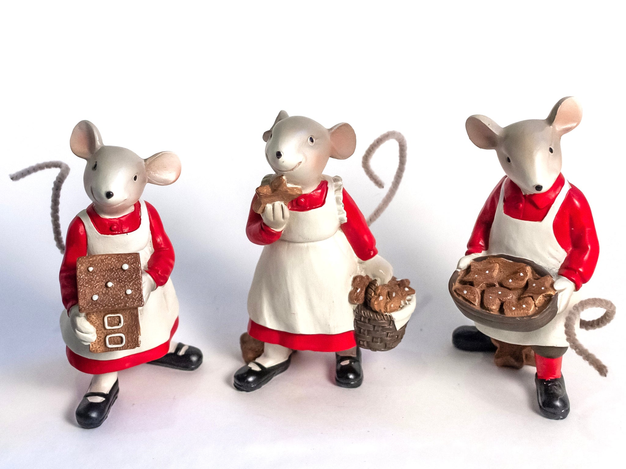 Holiday Baking Mice Figures