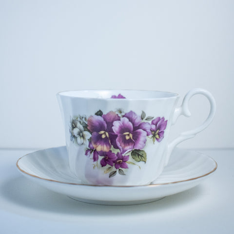 Pansy Tea cup and Saucer