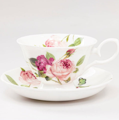 Kensington Pink Rose Tea Cup and Saucer