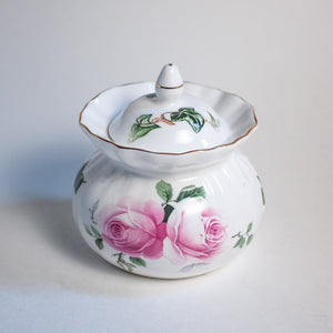 Rose Sugar Bowl