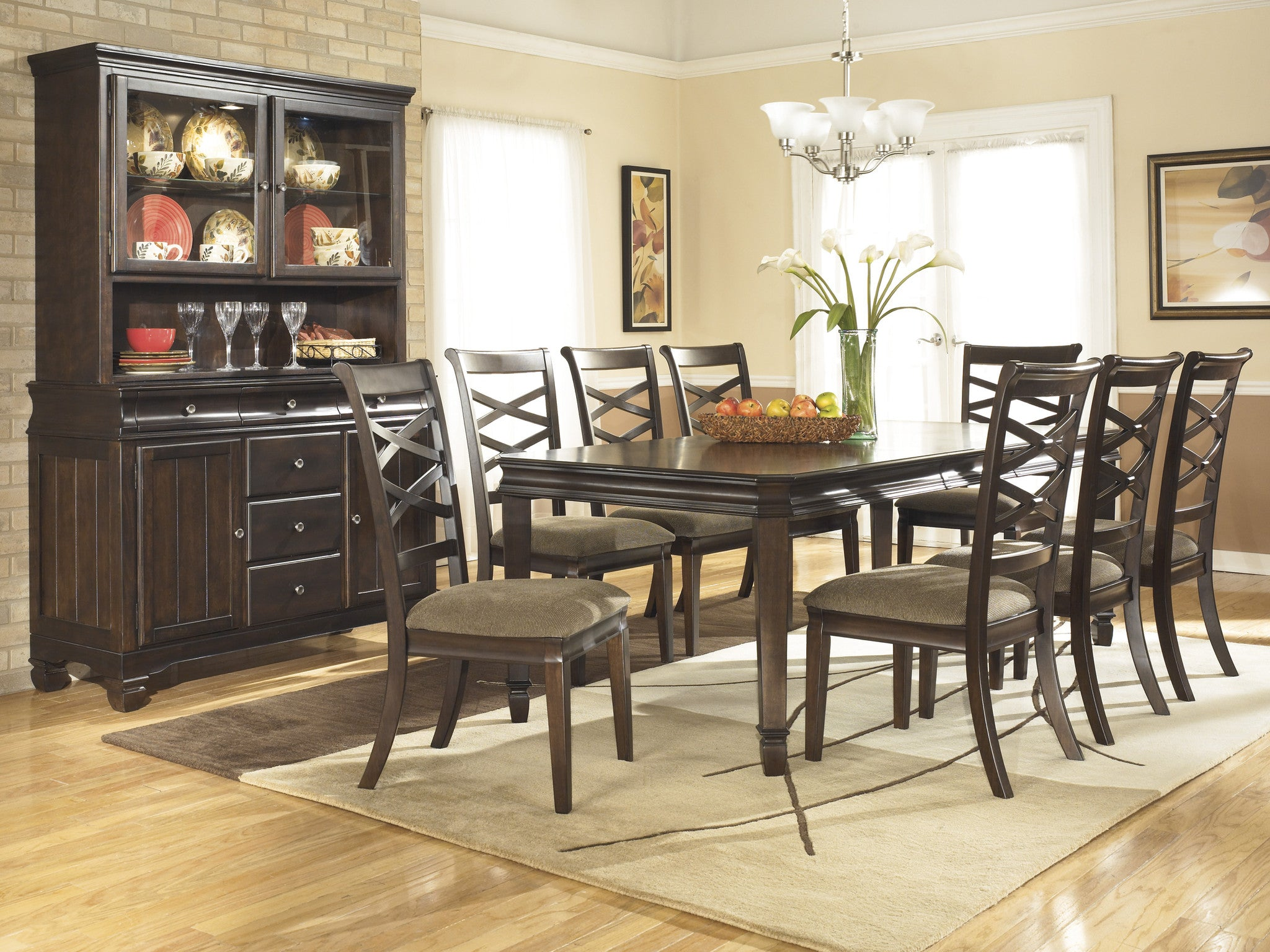 Ashley Furniture Hayley 9 Piece Dining Set with Server JACKS