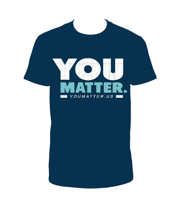 YOUMATTER T-Shirt Navy Blue