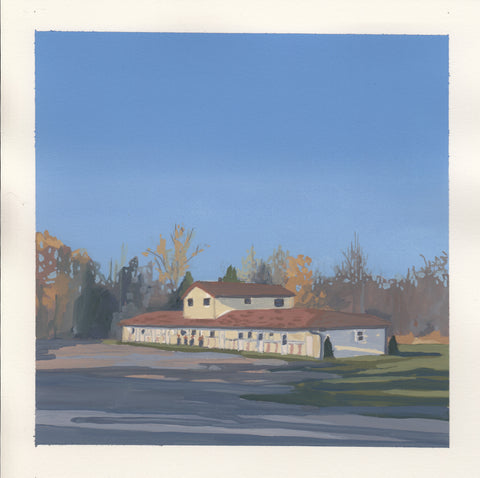 Rosebud Motel *Available framed at Mill Street Studio Pop Up in Creemore, ON