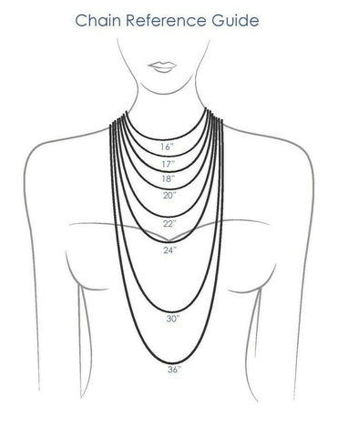 Female Necklace Size Chart