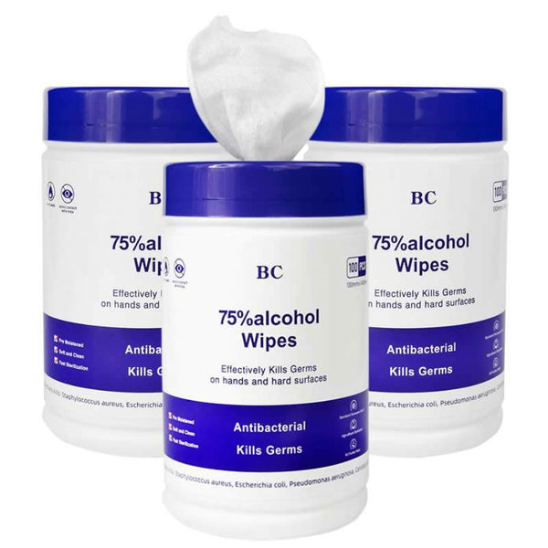 100ct Antibacterial Wet Wipes In Resealable Container