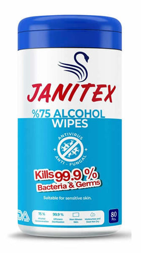 Janitex Alcohol Disinfectant Wipes - 80ct