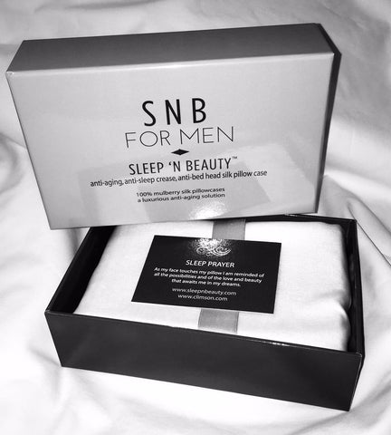 Sleep 'n Beauty for men- 100% Silk Pillowcase (King Size) in a beautiful Gift Box