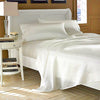 Luxurious 100% mulberry silk sheet set queen