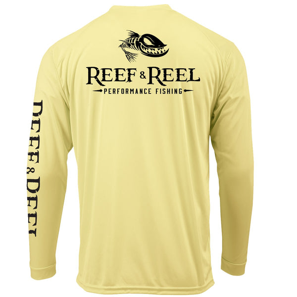 Reef & Reel Floating Fish Back Performance LS Shirt
