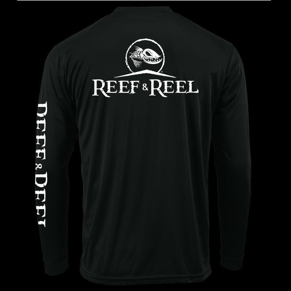 Reef & Reel Youth Logo Long Sleeve Performance Shirt