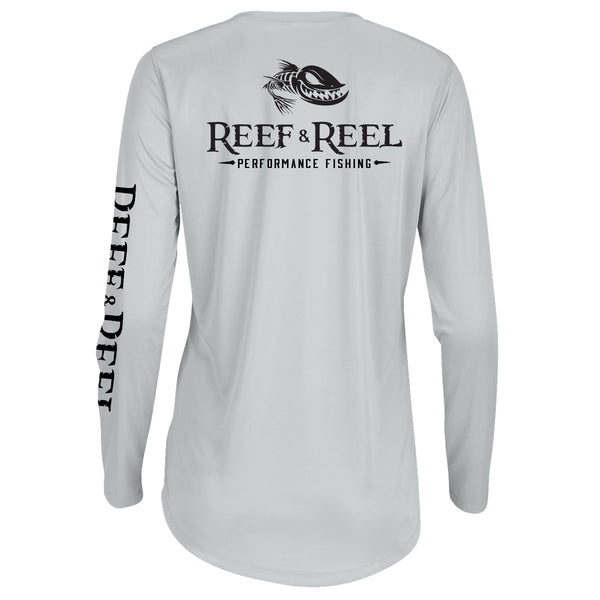 Reef & Reel Women's Floating Fish Back Womens Performance LS Shirt