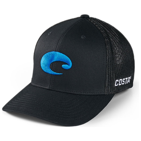 Costa del Mar Flex Fit Logo Trucker Black Image 1