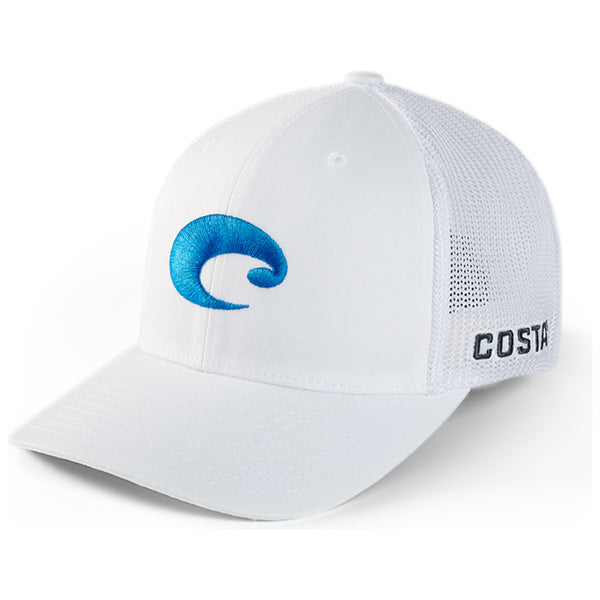 Costa del Mar Flex Fit Logo Trucker White Image 1